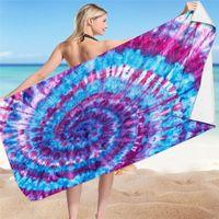 Fashion Tie Dye Bath Towel Outdoor Travel Square Beach Towel Home Textiles 150 * 75cm 16 Style T500693