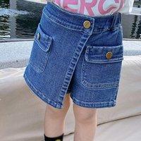 Jeans Summer Baby Girl Princess Denim Skirt Shorts Fake Two-piece Thin Soft Pants Fashion Kid Party Clothing
