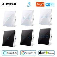 Auyxzd Tuya Smart Switch WiFi Button Light Switches Control inalámbrico de la UE Alexa Google Home Compatible AC 220V Necesito Neutra
