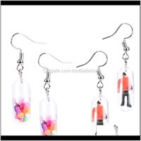 Jewelry1Pair Nifty Funny Candy Human Dangle Earrings For Women Resin Transparent Jewelry Nice Gift Exaggerated & Chandelier Drop Delivery 202