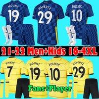 Chelsea Männer Kids Kit 2020 2021 Pulisische Ziyech Havertz Kante Werner Abraham Chilwell Mount Jorginho Fussball Jersey 20 21 Giroud T.Ilva Football Hemd