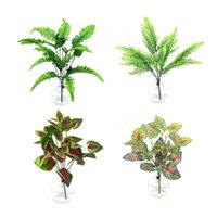 装飾的な花の花輪の人工的な植物の緑の鉢植えの壁の装飾の葉