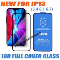 10D Tam Kapak Temperli Cam Telefon Ekran Koruyucu için iphone 13 12 11 Pro Max Mini XR XS X 6 7 8 Artı 25 adet Paketi Karışık Sipariş Kabul