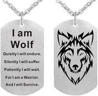 Fashion Wolf Collier Collier chien Pendentif pour hommes Boy Armée Soldier Je suis Fans Punk Cool Bijoux Colliers