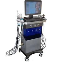 الأكسجين Jet Hydra Dermabrasion Microdermabrasion 9 في 1 Hydrafacial آلة هيدرو تصبغ حب الشباب علاج الجلد التطهير معدات سبا
