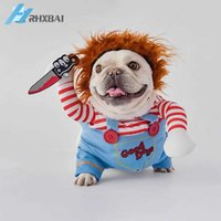 Funny Cute Pet Costume Halloween Christmas Dog Clothes Cavalier Cosplay Dress up French Bulldog Pug Coat Cowboy Pirate Cat