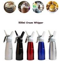 500ml N2O 디스펜서 크림 Whipper Coffee Dessert Sauces Butter Whipper 알루미늄 합금 크림 폼 메이커 케이크 도구를 통해 해상 운송