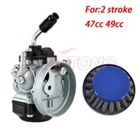 Motorcycle Fuel System Carb Carburetor With Air Filter For Mini Motor 49cc 50cc 60cc 66cc 80cc 2-Stroke Motorized Bike