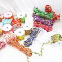 Decorative Flowers & Wreaths 2M Jute Rope Leaf Shaped Ribbon DIY Gift Wrapping Twine Burlap Rustic Wedding Decoration Event Festival Party S