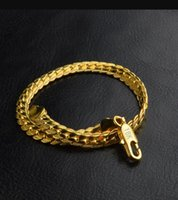 5MM Snake chains bracelet 18K Gold Plated and 925 sterling silver Men's Link Bangle For women Hip hop Jewelry in Bulk DFF2220