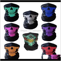 Caps Festival Masks Skeleton Magic Bicycle Ski Skull Half Face Ghost Scarf Multi Use Neck Cycling Mask Zza2231 Quwdt Ugbtc