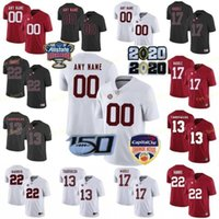NCCAA College Jerseys Alabama Crimson Marée 1 Nick Saba 44 Forrest Gump 8 Julio Jones 8 Josh Jacobs 12 Joe Namath Custom Football cousu