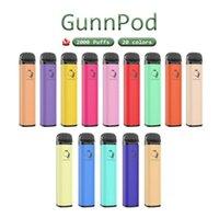 GunnPod E Cigarros Dispositivos Dispositivos de POD 2000 Puffs 1250mAh Bateria 8ml Cartucho Prefilado Vape Pen vs Bang XXL Max Air Bar Diamante