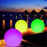 Bola de praia incandescente controle remoto LED luz piscina brinquedo 13 cores acessórios de festa inflável