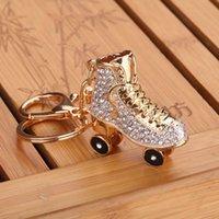 Portachiavi di modo Portachiavi cristallo Skates rulli di cristallo scarpe scarpe catene chiave anelli portabicchieri Borsa borsa pendente G1019