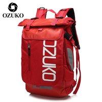 Ozuko Unisex Casual Sırt Çantası Spor Sırt Çantaları Erkekler Için Seyahat Laptop Çantası Paketi Adam Okul Çantaları Büyük Kapasiteli Erkek Su Geçirmez Çanta 201119