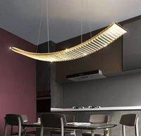 Strip restaurant chandelier light  crystal table lamp postmodern simple LED creative art