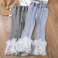 Trousers Girls Pants Fashion Jeans Patchwork Trend Sport Casual Spring Autumn Teeage Children's Sweatpants Baby Kids