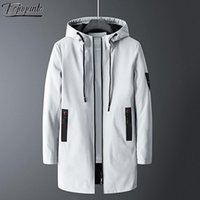 Men's Mid-Length Jacket Youth Korean Style Slim Stand-Up Collar Casual Windproof Men Jackets