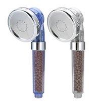 Chuveiro de banheiro Cabeças de água Poupança de água Negativa Spa filtrada Cabeça ajustável com mangueira Três mode Lon