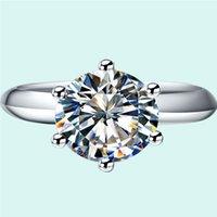18 كيلو الذهب الأبيض مطلي سوليتير خواتم الخطبة 3ct nscd خاتم الماس للنساء الاسترليني والفضة والمجوهرات كلاسيكي جودة المجوهرات