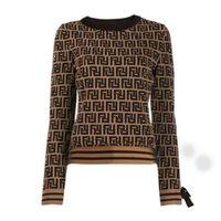 Свитер Женская осенью вокруг шеи полосатая мода с длинным рукавом Женщины высокого класса Жаккардовые кардиган вязание свитера