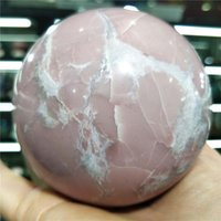 Decorative Objects & Figurines 1KG Natural Pink Opal Crystal Ball Quartz Rose Jewelry Healing Charm Real Gems Sphere Ornament Living Room Fu
