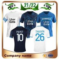 21/22 Olympique de Marseille Soccer Jersey 2021 Thauvin Payet Om Milik Maillot Shirt Benedetto Sanson L.Gustavo Kamara Footket