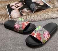 2020 Tasarımcı Ayakkabı Lüks Slayt Yaz Moda Geniş Düz Sandalet Terlik Erkekler ve Kadınlar Çevir