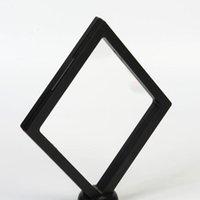 Lagerflaschen Gläser 60pcs / lot 140 * 140 * 20mm Pet Membran Box Halter Floating Display Case Ohrring Edelsteine Ring Schmucksuspensionsverpackung