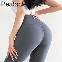 Leggings Peatacle Sport Wear für Frauen Gym Bummy Control Hohe Taille Fitness Yoga Pants Push Up Spandex Girls