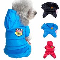 Dog Apparel 2021 Winter Clothes Thicken Down Jacket Pet Hooded Parka Large Size XXL Warm Pets Jumpsuits Coat For Small Dogs Clothing