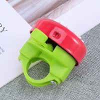 Bike Horns 1pc Ring Bell Chrysanthemum Pattern Accessory (Red Green)