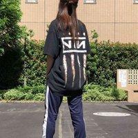 Старинный гвоздь девять короткие дюймы рукава рок-полоса хип-хоп тяжелый металл тренд футболка свободный не туман