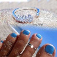 لذيذ فضي اصبع القدم حلقة للمرأة القدم فنجر مجوهرات الشاطئ لطيف حلقات العظام الأسماك قابل للتعديل