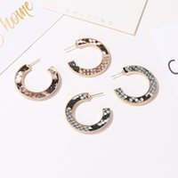 Vintage Geometric Leather Earrings Studs For Women Fashion Snake Pattern Leopard Print Circle Female Party Jewelry Stud 1262 B3