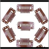 Aessories Araçları ÜrünlerimizZhifan 3dot2cm Uzantıları için 9teeth Klipler Yapış Peruk Klip Saç Uzatma Örgü 4 Renkler Mevcut Bırak Teslimat 202