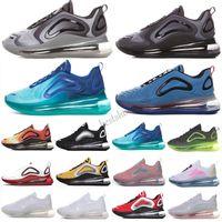 Nike Air Max 720 BSIDIAN 볼트 러너 신발 남성 여성 트리플 블랙 화이트 72C 얼룩 부활절 팩 바다 최대 트레이너 스포츠 스니커즈 36-45