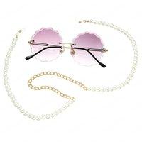 Vintage imitação pérola óculos cadeia de correntes óculos mulheres acessórios óculos de sol segurar cordas de alças