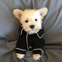 Pequeno cão vestuário casaco pet filhote de cachorro pijamas preta rosa meninas caniche bichon teddy roupas de algodão bulldog bulldog camisas inverno 528 s2