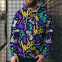 Men's Hoodies & Sweatshirts 2021 Color Letter Pattern Sweater Fashion Streetwear Men's Hoodie Hip Hop Personality Cartoon Oversize