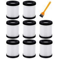 Vacuumers 8 Pack Remplacement du filtre HEPA compatible pour Moosoo XL-618A sans fil
