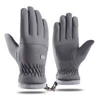 Cycling Gloves Warm Plus Velvet Winter Full Finger Outdoor Sport Skiing Motorcycle Riding Non-slip Touch Screen