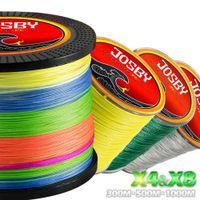 JOSBY 300M 500M 1000M 4 Strands 8 Multicolour PE Braided Wire Multifilament Fishing Line Tackle 4Color 10-80 LB 210609
