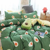 Bedding Sets Avocado Modern Set Kids Single Fruit Pattern Duvet Cover Queen Double King Size Bedclothes Green Quilt Covers For Adults