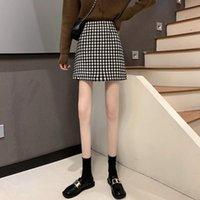 Skirts Plaid Mini Skirt Women High Waist A-line Short Autumn Harajuru Style Casual
