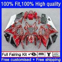 Injektionsformkroppar för Suzuki GSXR1000 K5 GSX-R1000 05 06 Motorcykel Bodywork 26No.43 GSXR 1000cc 1000 CC 2005 2006 GSXR-1000 Silvery Red 2005-2006 OEM Fairing