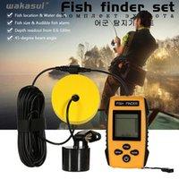 Karpfen tragbare SONAR FISH OutdoorFinders Alarm 100m LCD-Finder Angelköder Sounder Sea-Bass Zubehör Finder