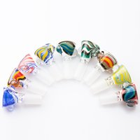 CSYC G093 Colored 14mm 18mm Male Herb Slide Dab Pipes Heady Glass Bowl Smoking Tobacco Pipe Bong Bowls Ash Catcher