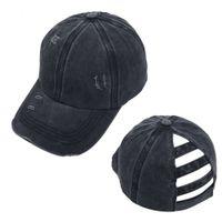Tampão cor sólida Chapéu de rabo de cavalo ao ar livre esportes de esportes GRANDE CAP